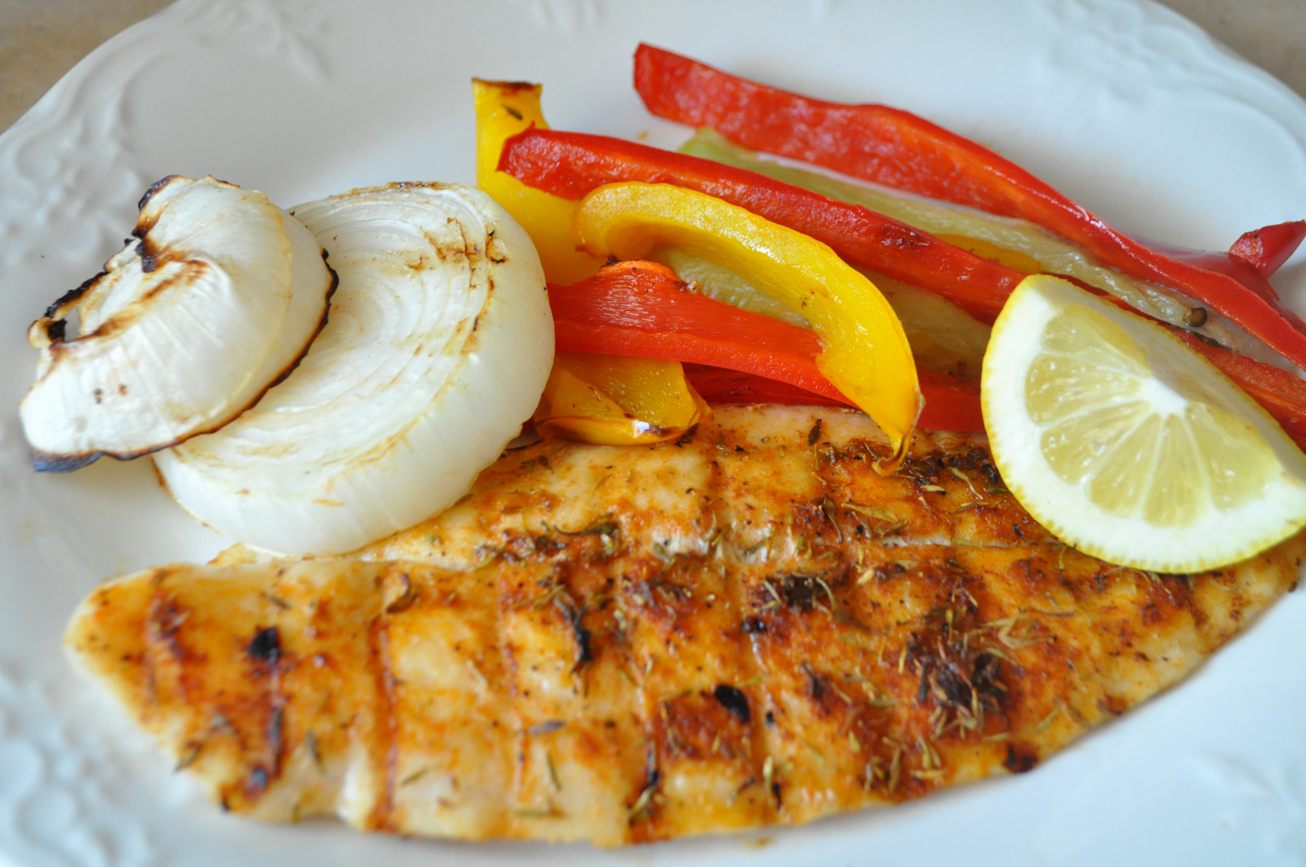Spicy Grilled Tilapia With Peppers And Onions Annashortcakes
