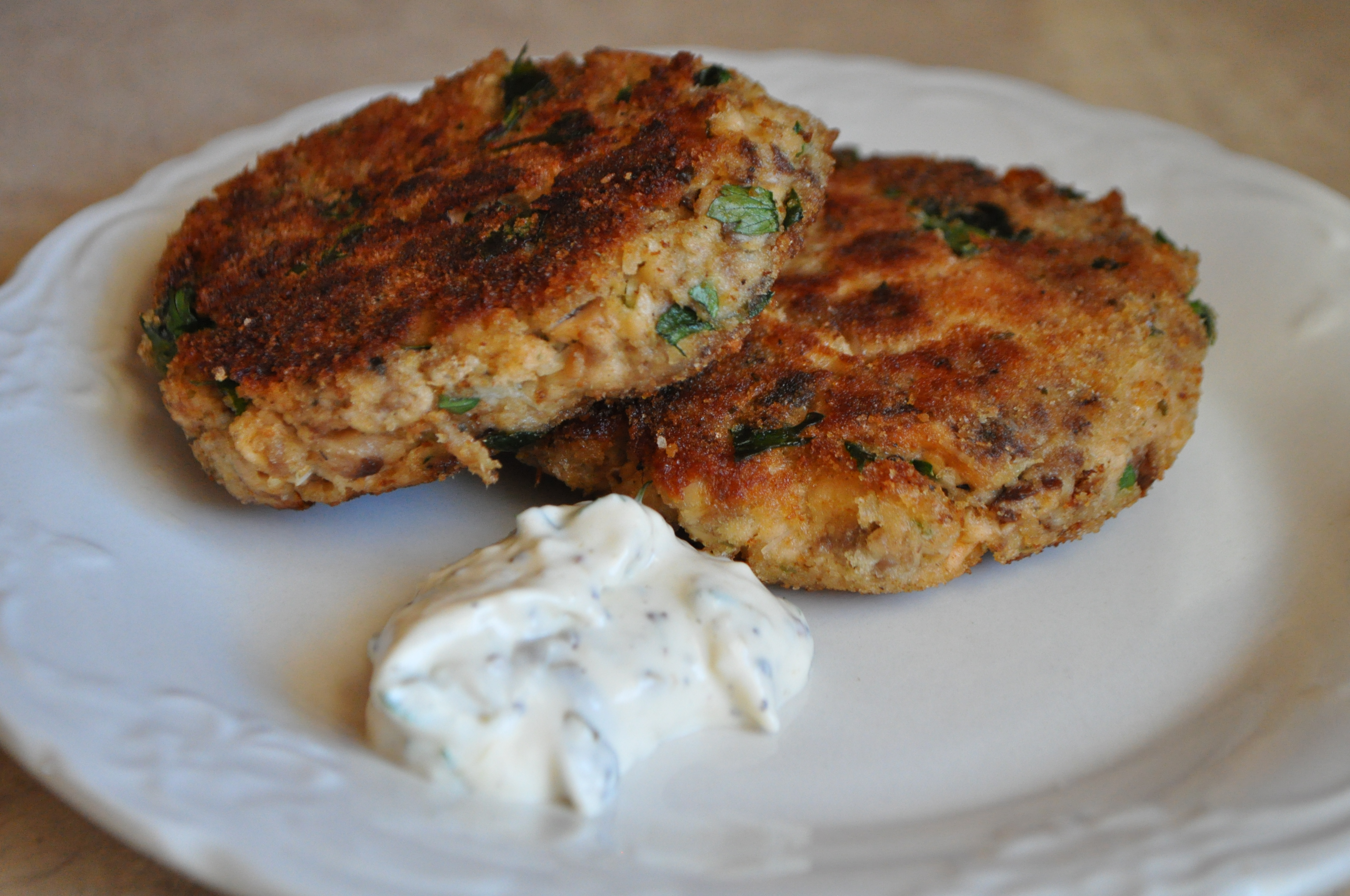 Salmon Croquettes with Black Pepper and Caper Tartar Sauce ...