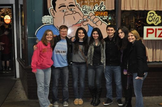 My cousins and I at Big Ed's Pizza in Oak Ridge, TN.