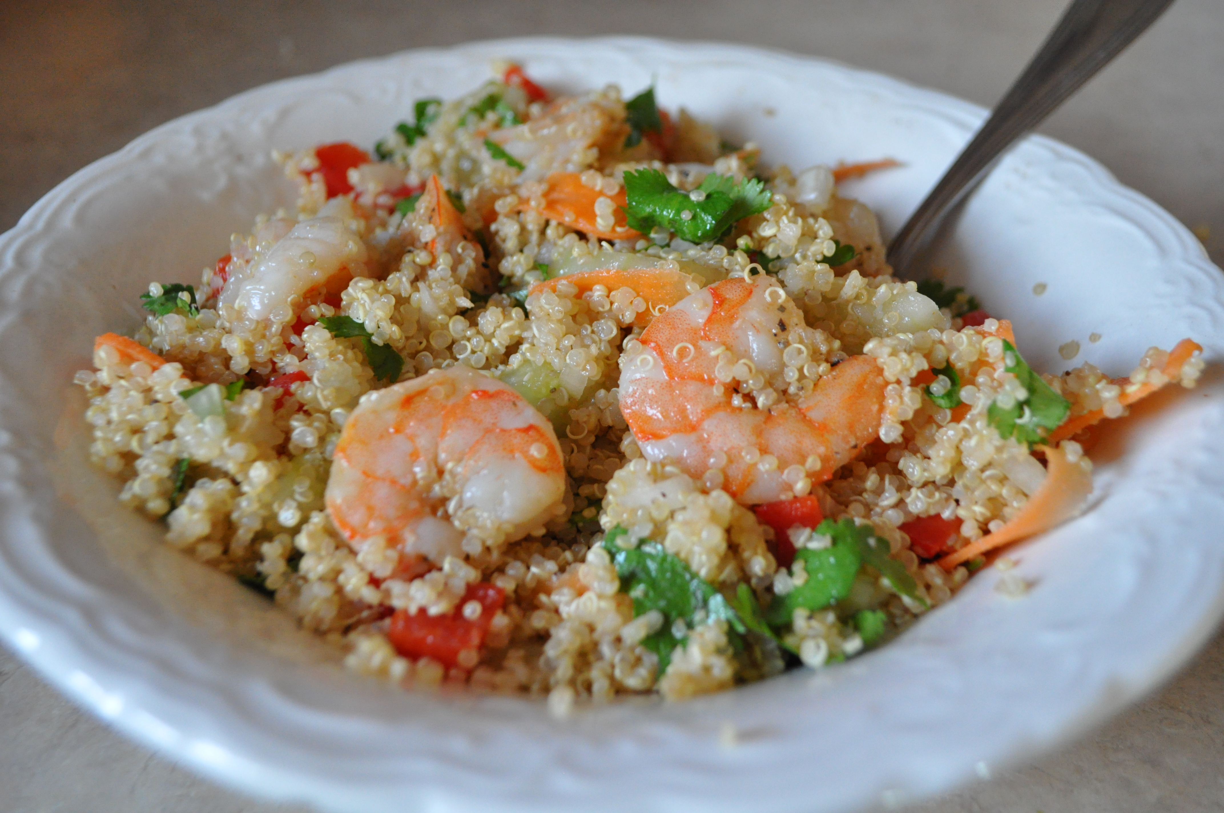 Vietnamese Shrimp Quinoa Salad (from The Crafty Cook Nook )