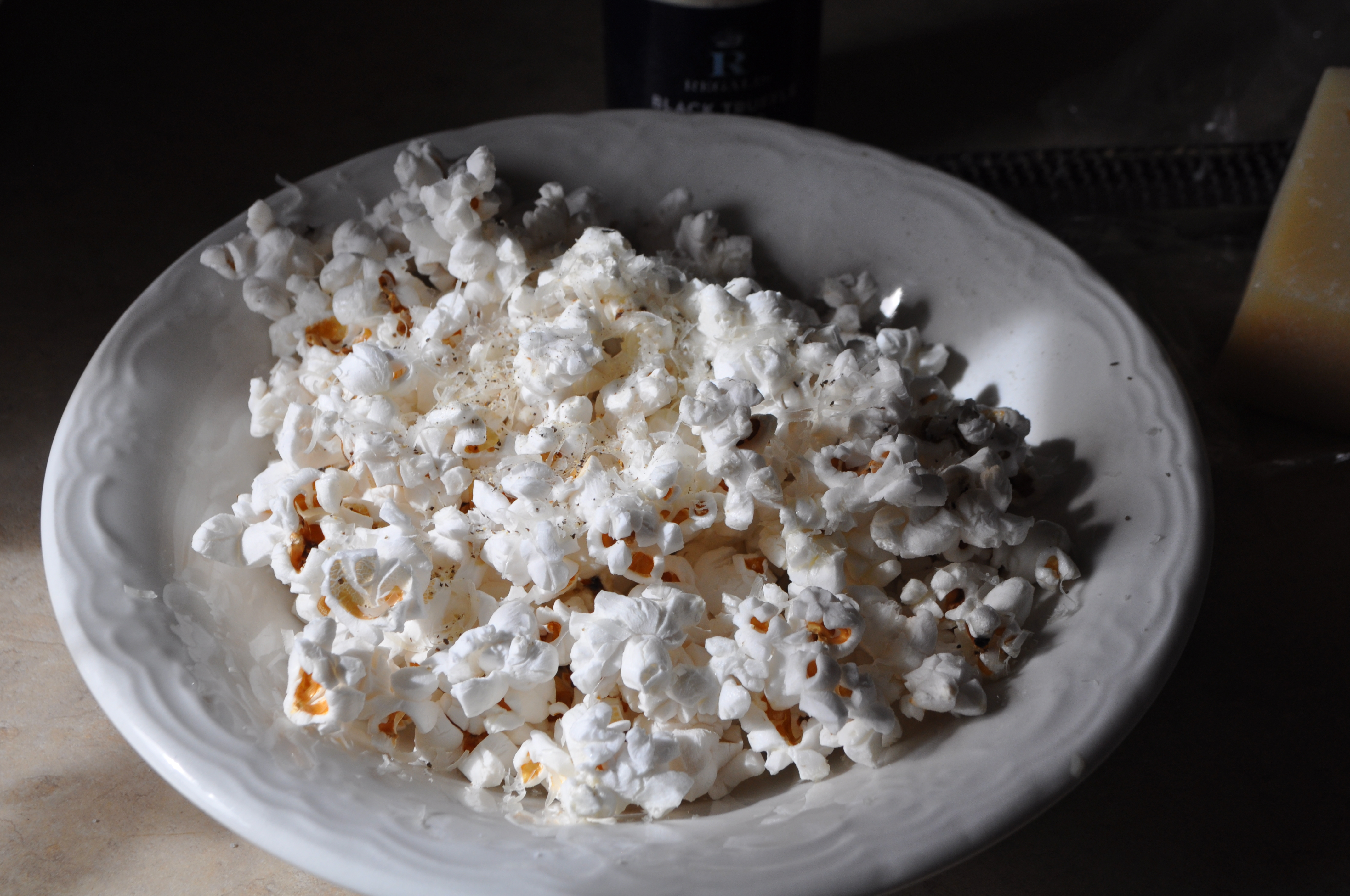 ... truffle butter popcorn with i add the parmesan right away truffle 3