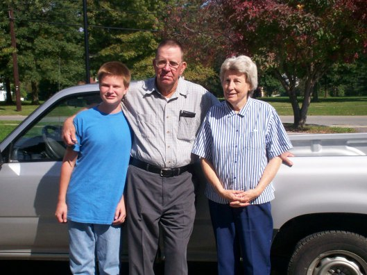 My brother, Grandpa, and Grammy 2006
