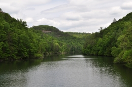 View from the dam.