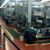 Part of the bottling line.