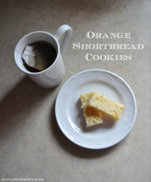 Orange Shortbread Cookies